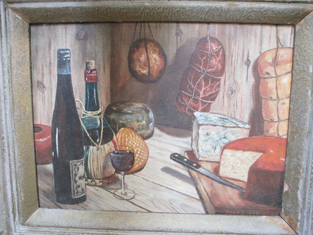 Nice Mid Century Still Life Oil on Board