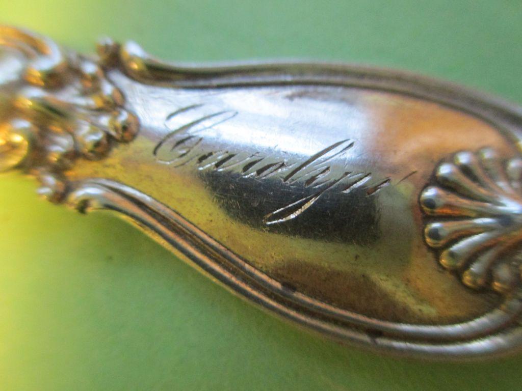 """""""Carolyn"""" Sterling Baby / Christening / Tea Spoon - c.1900"""