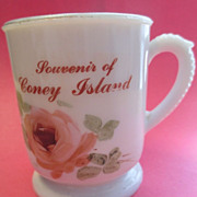 Coney Island Custard Glass Mug / Cup Souvenir