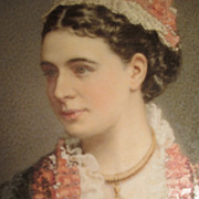 California Portrait of Mrs Seymour - circa 1875 - Signed