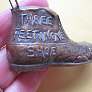 "Antique Tape Measure Boot - ""Three Feet in One Shoe"""