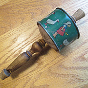 Baby Rattle & Whistle - Wood and Tin