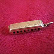 14K Gold Harmonica Charm - 1950's