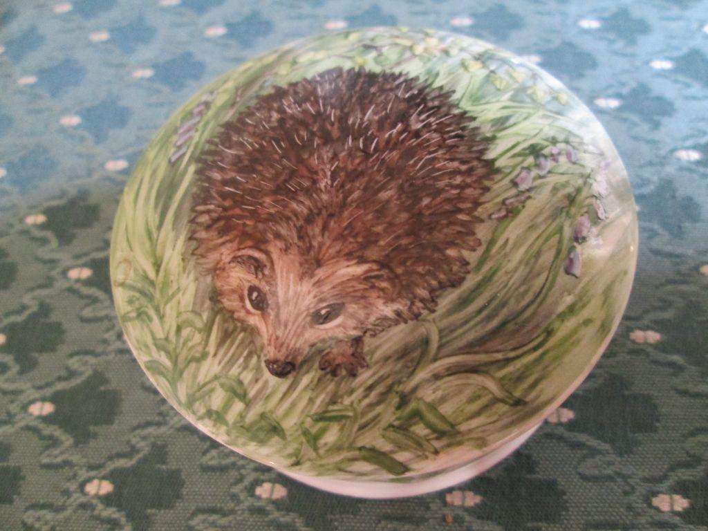 Hedgehog Dresser Jar - Hand Painted & Signed