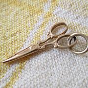 14k Gold Scissors Charm