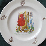Child's Red Riding Hood Plate - Johnson Bros. England