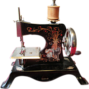 Child's Casige Sewing Machine with Little Red Riding Hood Motif - German c.1947