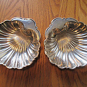 Pair of Gorham Sterling Silver Shell Shaped Bowls