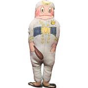 Palmer Cox Brownie - Policeman - Hand Made Cloth Doll / Ornament