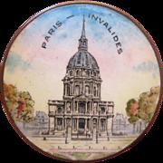 French Enamel Box Depicting Paris Invalides Circa 1910 Souvenir