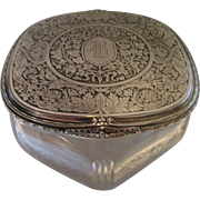 Sterling Silver Top Dresser Jar - Large Beautiful Powder Jar