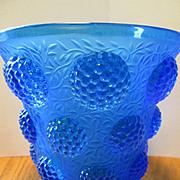 Verlys Blue Vase - Les Cabochons Pattern - 1930's