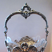 Continental 800 Silver Basket with Glass Liner