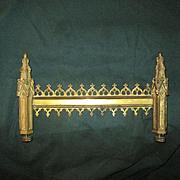 Gothic Revival Gilt Bronze Architectural Element - 19th Century