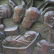 Haitian Wood Carving By Berrier Duperrier - 1960's - Nativity