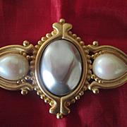 YSL Faux Pearl Pin - Big, Beautiful, and Unusual !