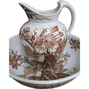 Large Aesthetic Basin and Pitcher (Bowl & Jug) 1873 - Brown-Westhead, Moore & Co.