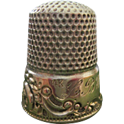 14K Gold & Sterling Thimble - Ketcham & McDougall - Size 9