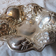 Gorham Sterling Silver Bowl - 1903 - Apples with Apple Blossoms Motif