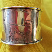 Sterling Child's Napkin Ring with Nursery Rhymes Circa 1900