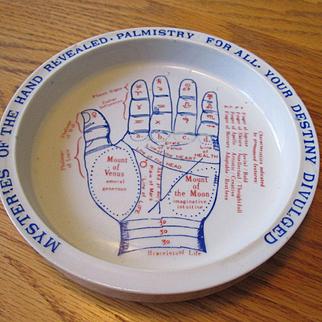 Palmistry / Fortune Telling Ceramic Dish