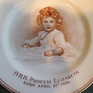 Princess Elizabeth as a Baby (Now Queen Elizabeth) Paragon China Plate 1927