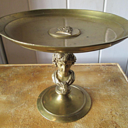 Handsome Bronze Tassa with Classic Bacchant Figure