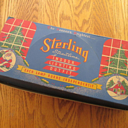 "Vintage Christmas Tree Lights in Vintage Box - ""Sterling"" Indoor Tree Lights"