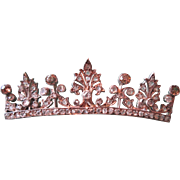 Large Diamond Crown Brooch - Rose Diamonds & Old European Cuts