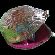 Sweet Walnut Shaped Sewing Box / Thimble Holder