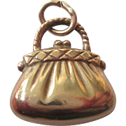 "9ct Gold ""Purse"" Charm - Puffy and Fun"