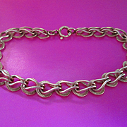 1960's  14K Gold Chain Link  Bracelet  - Nice!