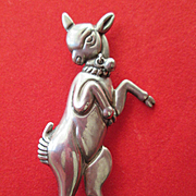 Mexican Los Castillo Sterling Silver Fawn (Baby Deer) Pin #476