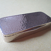 Hand Hammered 935 Silver Pill Box by Ernst Gideon Bek