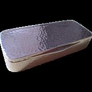 Hand Hammered 935 Silver Pill Box by Ernst Gideon Bek