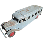 Super Large Cor-Cor Toy Bus - Pressed Steel - Circa 1930
