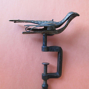 Sewing Bird / Sewing clamp - Cast Iron and Brass - Victorian with a Heart