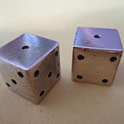 Lucky Sterling Silver Dice