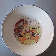 "Walt Disney's  ""Three Little Pigs""  Child's Bowl - Patriot China 1930's"