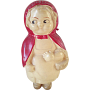 Celluloid - Red Riding Hood - Baby Rattle - 1920's