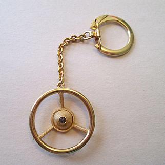 Stanhope - Car Steering Wheel Key Ring - 1950's - Unusual!