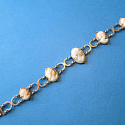 Pretty Italian Shell Cameo Bracelet Set in 800 Silver