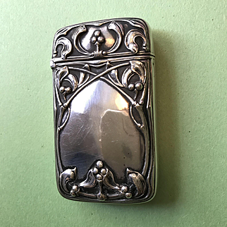 Gorham Silver Match Safe with Mistletoe - For Christmas!