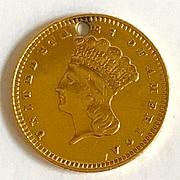 Wearable 1861 Gold U.S. Dollar Coin - 22K Gold - Civil War Era