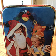 Edward Sharp & Sons Christmas Tin with Santa - Circa 1950's
