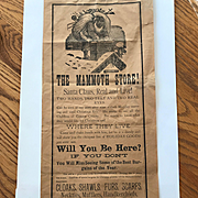 Christmas Broadside Advertising Poster for a Store circa 1890's