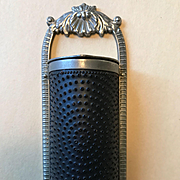 Antique Silver Plated Nutmeg Grater - with Shell Design
