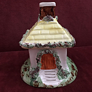 Staffordshire Pottery Cottage Pastille Burner - Late Victorian