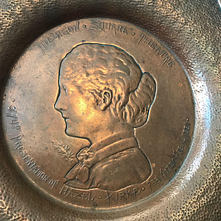 1881 Commemorative Gorham Tray for the 370th Performance of the Broadway Show Hazel Kirke in New York City