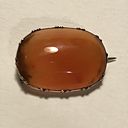 Georgian Veil Pin - Carnelian and 9ct Gold